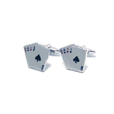 Artamis Sarome H0005 - Boutons de Manchettes en Forme de Cartes à Jouer avec Boîte de Présentation