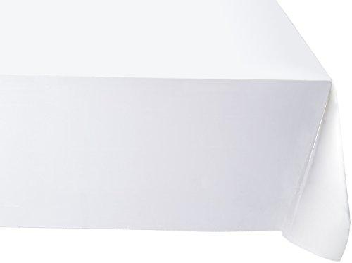 Violett Linen Rechteckige/Rechteck Tischdecke, jeden, jeden, weiß, 52