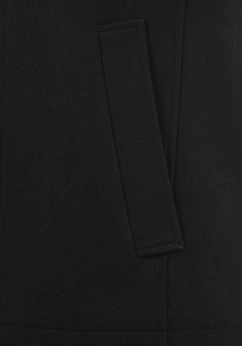 JACK & JONES Premium Jacinto Herren Winter Mantel Wollmantel Lange Winterjacke mit Stehkragen, Größe:L, Farbe:Black - 5