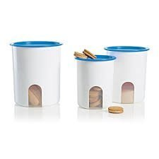 Tupperware Reminder Canister Set of 3 in Raindrop Blue by Tupperware Tupperware Cannister