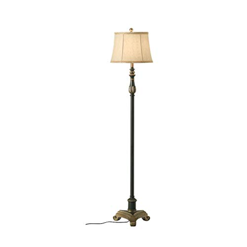 Standleuchten Stehlampen Stehleuchten Retro Einfache Stehlampe Wohnzimmer Schlafzimmer Nachttischlampe Kreatives Mittelmeer Vertikale Stehleuchte Leselampe (Color : Remote control) -
