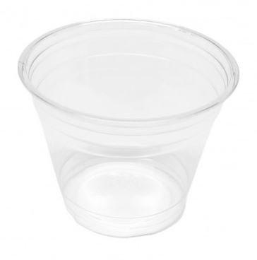 Clear Cup - PET - Kunststoffbecher - glasklar - 9oz/200ml, 50er Pack (50 x 1 Becher)