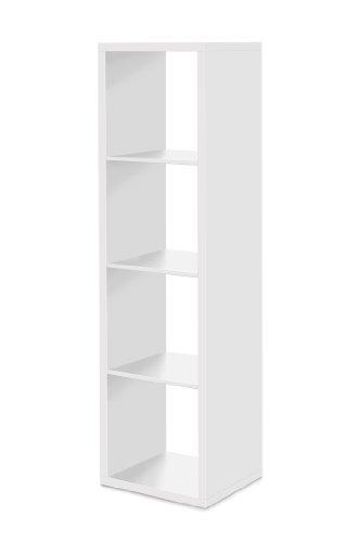 Raumteiler 4 Fächer - Bücherregal, Standregal (verschiedene Farben), 25 mm, made in Germany