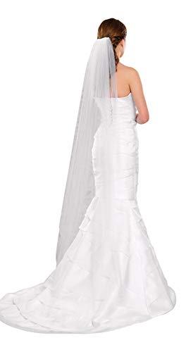 Langer Schleier zum Brautkleid, 170 cm (Schleier Brautkleid)