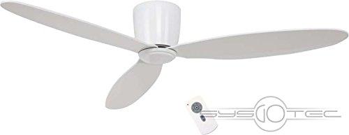 Unbekannt Casafan Deckenventilator Eco Plano We-We Weiß 132cm 3Fl Decken- und Wandfächer 4024397364213 (230v Dc-motor)