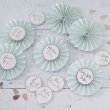 Hello World - Baby Shower Badges in Mint & Rose Gold