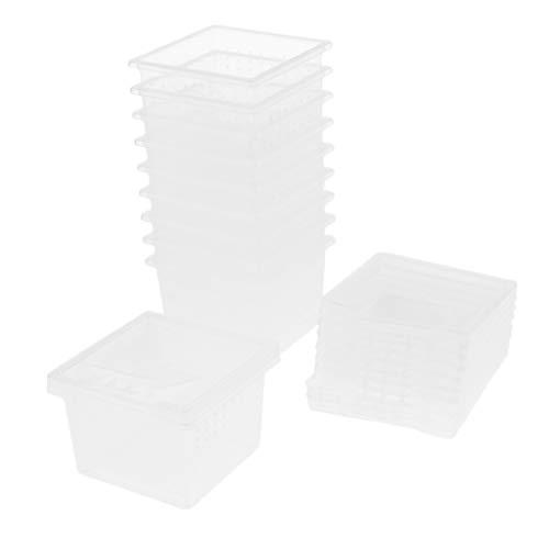 Homyl 10Stk. Transparent Reptilienbehälter Transportbox Fütterungsbox für Reptilien Spinnen Wasserschildkröten Frösche Kornnatter