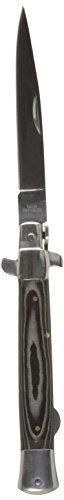 Haller Unisex- Erwachsene Taschenmesser Stiletto Micarta schwarz, one size Edel Stiletto