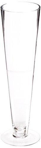 WGV Clear Pilsner Trumpet Glass Vase/Center piece, 16-Inch by WGV Pilsner Vasen