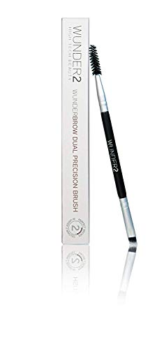 WUNDER2 WUNDERBROW Dual Precision Brush - Augenbrauenpinsel perfekte Augenbrauen Make up Pinsel