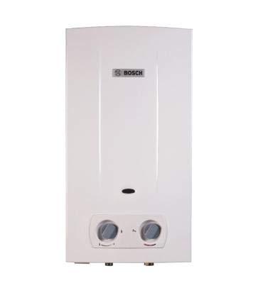Bosch T2200 - Calentador de agua a gas natural con cámara abierta y tiro natural, Blanco