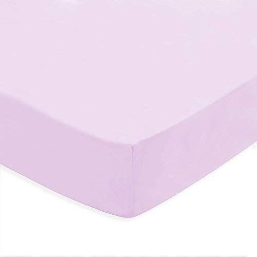 (lila) Sabana bajera ajustable, elastica 100% algodón de verano. Cama 150 x...
