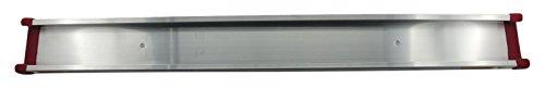 Preisvergleich Produktbild BRUNS Alu-Gerätehalter-Set | inkl. 5 Geräte-Haltern und Führungs-Schiene| Länge: 750 mm