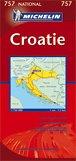 Croatie : 1/750 000 par Michelin