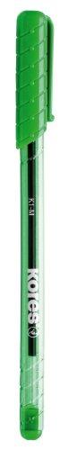 Kores Einweg-Kugelschreiber K-Pen K1, M, 12 Stück, grün