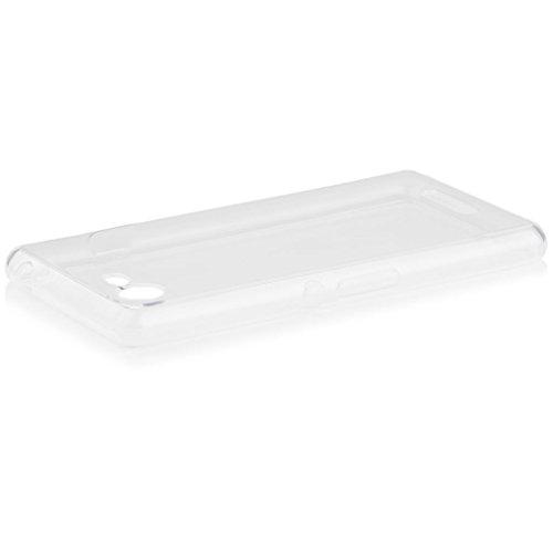 Sony Xperia E3   iCues Transparent TPU Case Klar   [Display Schutzfolie Inklusive] Transparent Klarsichthülle Durchsichtig Klare Klarsicht Silikon Gel Schutzhülle Hülle Cover Schutz