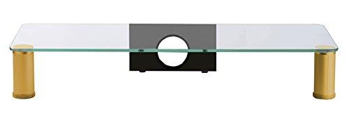 """VCM 16635 Glas TV-Aufsatz """"Parco Messing"""" - 2"""