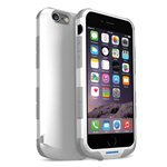 iWalk Chameleon MFI Apple Zertifiziert 2400 mAh Rugged Power Case Robuste Batterie Ladehülle Externer Akku Powerbank Ultra-Slim Bumper Case Schutzhülle Aufladbar mit Integriertem Akku für iPhone 6 - Weiߟ
