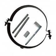 Kamino-Flam - Abrazadera para tubos de chimenea, estufa, horno, Abrazadera con tornillos para conducto de humos - acero resistente y durable -Gris oscuro, Ø 120 mm