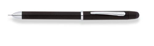 Cross Tech 3 Mehrfarbkugelschreiber (2 Kugelschreiber Schwarz/Rot, 1 Bleistift, Stylus, Radiergummi) schwarz