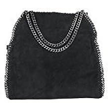 2b4bee91180 Limited-Colors Vivien cuero look Mujer Negro Gris Rosa Jeans Shopper Bolsa  Bolsa de mano