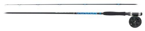 Fladen Power Kombi-Set aus Fliegenrute und Fliegenhaspel, Gewicht 6 (wt), Blau / Schwarz, 2,8m