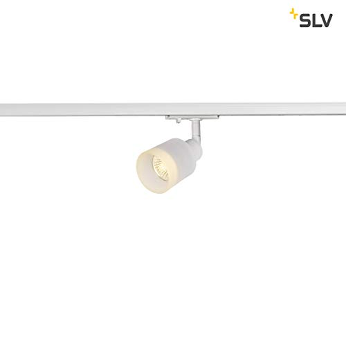 SLV LED Strahler 1-Phasen PURI TRACK   Dreh- und schwenkbarer Schienen-Strahler, LED Spot, Deckenstrahler, Deckenleuchte, Schienensystem, Innenbeleuchtung, 1P-Lampe   GU10 QPAR51, max. EEK E-A++