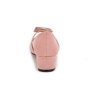 Les talons des femmes Printemps Été Automne Hiver Autres Fleece Office & Carrière Casual Robe Talon Bowknot Rose Noir Beige gris Pink