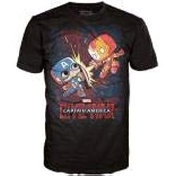 Marvel Comics POP! Tees T-Shirt Civil War - Fight! Size XXL Funko shirts