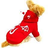 enjacke für kleine Hunde und Jungen, leuchtet im Dunkeln, XL, rot ()