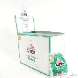 gizeh filtri slim 6 mm mentolo - 10 buste