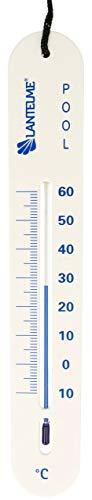 Lantelme Pool Teich Schwimmbad Thermometer Analog mit Schnur Poolthermometer sinkend für Wassertemperatur in der Tiefe