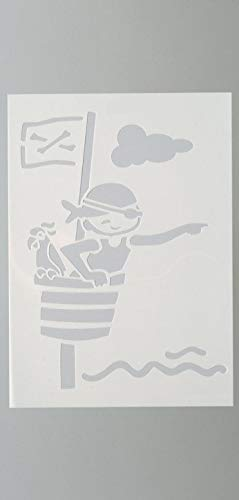 efco Schablone Pirat/4Designs DIN, Kunststoff, transparent, A 4