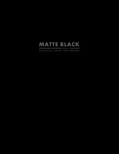 Matte Black Storyboard Notebook, 8.5x11, 100 Pages por Everyday Carry Notebooks