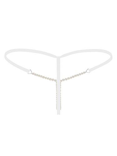 9fb73ab6bd Fasicat Tanga Slip con apertura mutandine perizoma slip perla per le donne  stile nuovo design Underwear bianco