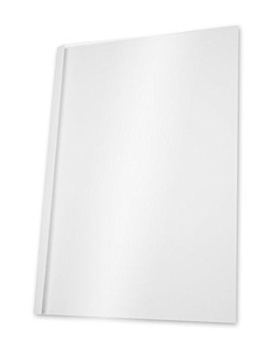 Pavo Thermo-bindemappen A4, Rückenbreite 1.5 mm, 100-er Pack, 1-10 Blatt, weiß/transparent -