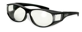 Cglasses Escort Clear Sonnenbrille, passt über Brille