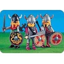 7677 - PLAYMOBIL - 3 guerreros vikingos