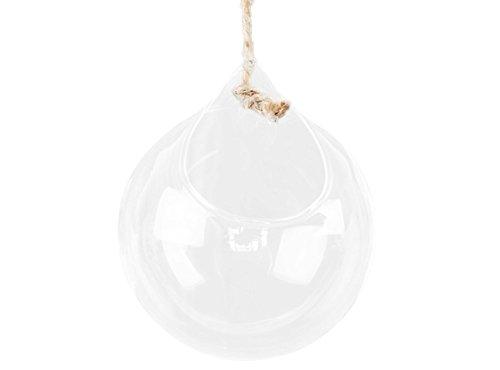 ent Hängend Rund Glas Vase mit Öffnungen Deko für Zuhause/Büro (Transparent) (Runde Glas-vasen)