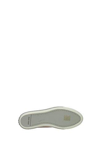 5E8557CAMELIA Miu Miu Sneakers Femme Cuir Verni Rose Rose