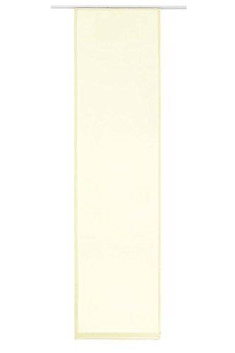 Flächenvorhang Schiebe-Vorhang Schiebe-Gardine Sichtschutz Transparent Unifarben inkl. Zubehör   245x60cm   Champagner