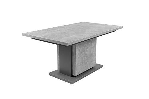 HOMEXPERTS Säulentisch mit Auszug BÄRBEL 160cm