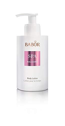 BABOR SPA Relaxing Body Lotion, geschmeidig pflegende Körperlotion mit floralem, holzigem Duft und einer Lavendelnote, zieht schnell ein, vegan, 200ml -