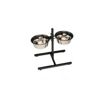 Adjustable Stainless Steel Double Diner Stand Bowls Food Feeding Pet Dog bowls New by UNISTYLE