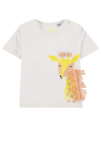 - Mädchen T-Shirt Placed Print T-Shirt, per Pack Weiß (Bright White|White 1000), 86 (Herstellergröße: 86) ()