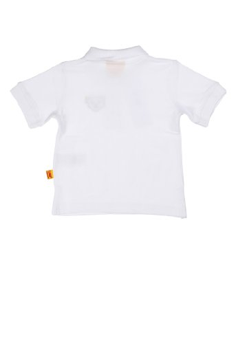 Steiff Unisex - Baby Poloshirt 1/4 Arm 9916841 Weiß (bright white 1000)