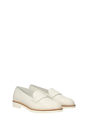 XXW0VX0L11088B0124 Tod's Mocassins Femme Cuir Blanc Blanc