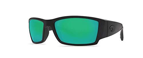 Costa Del Mar corbina Sonnenbrille Costa 580Objektiv Gr. Medium, Schwarz - Frame: Matte Black/Lens: Green Mirror