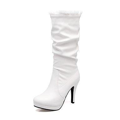 RTRY Scarpe Donna Materiale Personalizzato Winter Snow Boots Sella Stivali Stivali Moda Combattere Stivali Stivali Stiletto Heel Punta Punta Chiusa US9.5-10 / EU41 / UK7.5-8 / CN42
