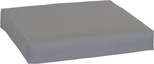 Gartenstuhl-Kissen Premium Lounge Sitzkissen Palettenkissen im Farbton anthrazit ca. 70 x 70 cm ca. 9 cm dick aus 100% Polyester wasserabweisend